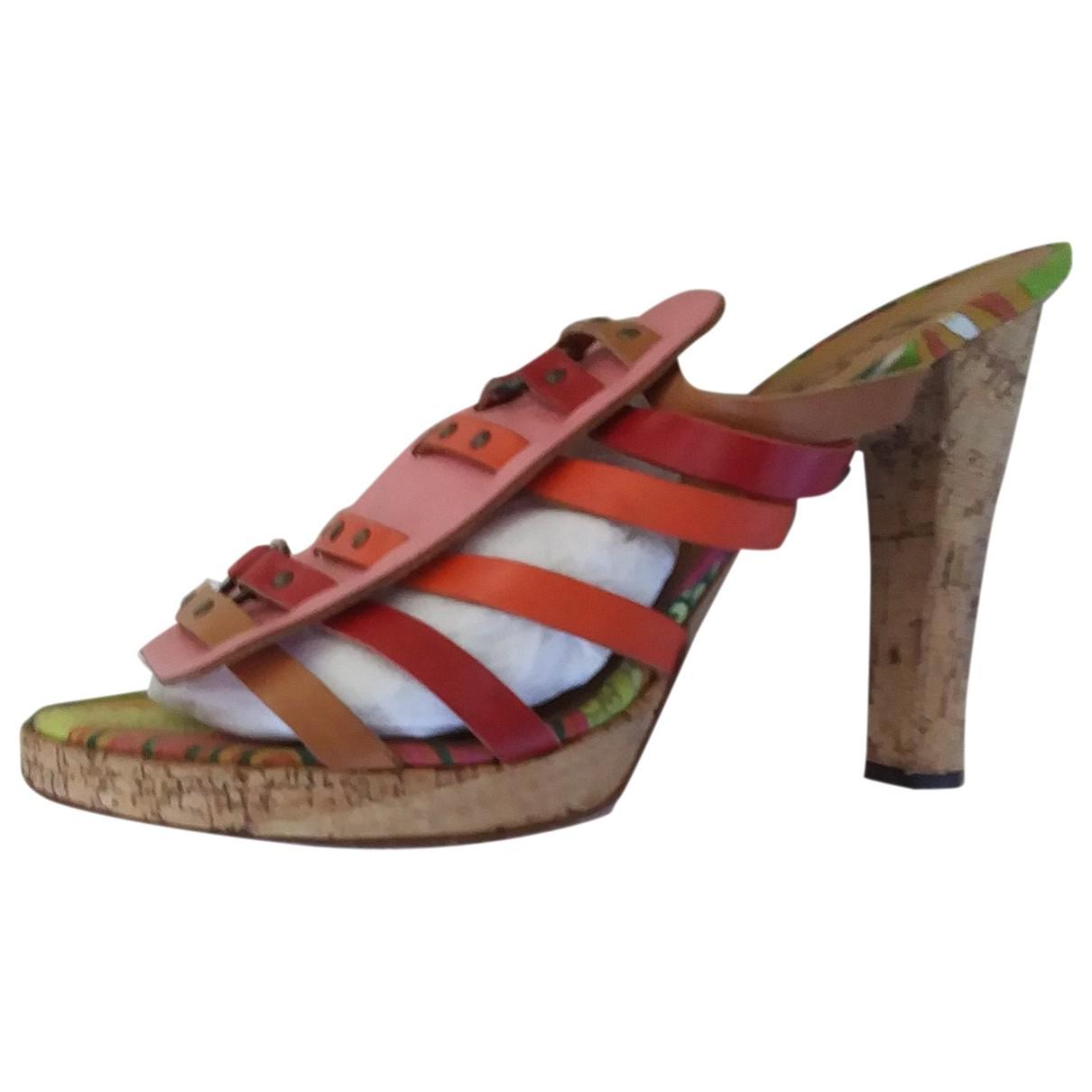 D&g \N Multicolour Leather Mules & Clogs for Women 40 EU