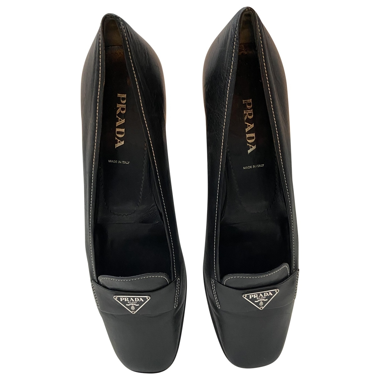 Prada \N Black Leather Ballet flats for Women 41 EU