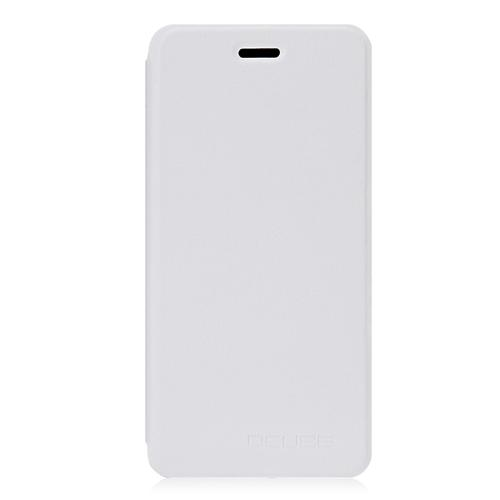 Leather Case Ultra-thin Shockproof Protective Flip Cover Litchi Pattern Standing Phone Holder For Vernee Mars - White