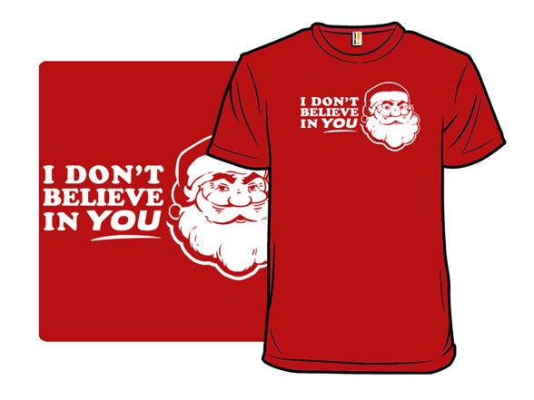 Disbelieving Santa T Shirt