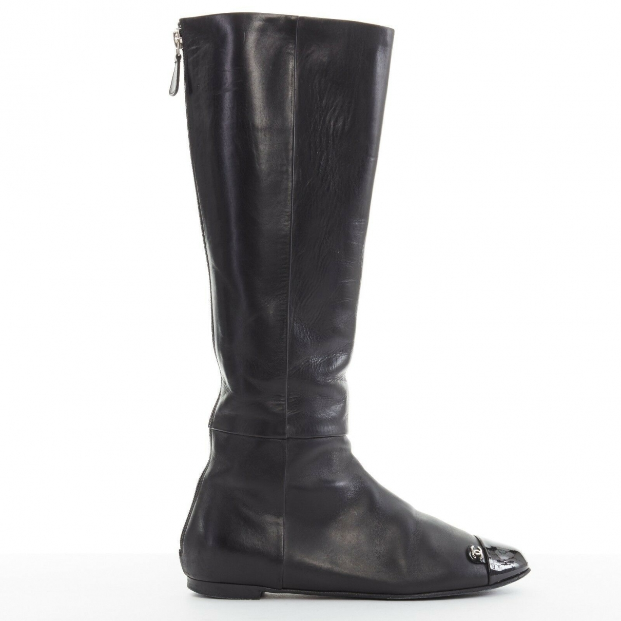 Chanel \N Black Leather Boots for Women 36EU