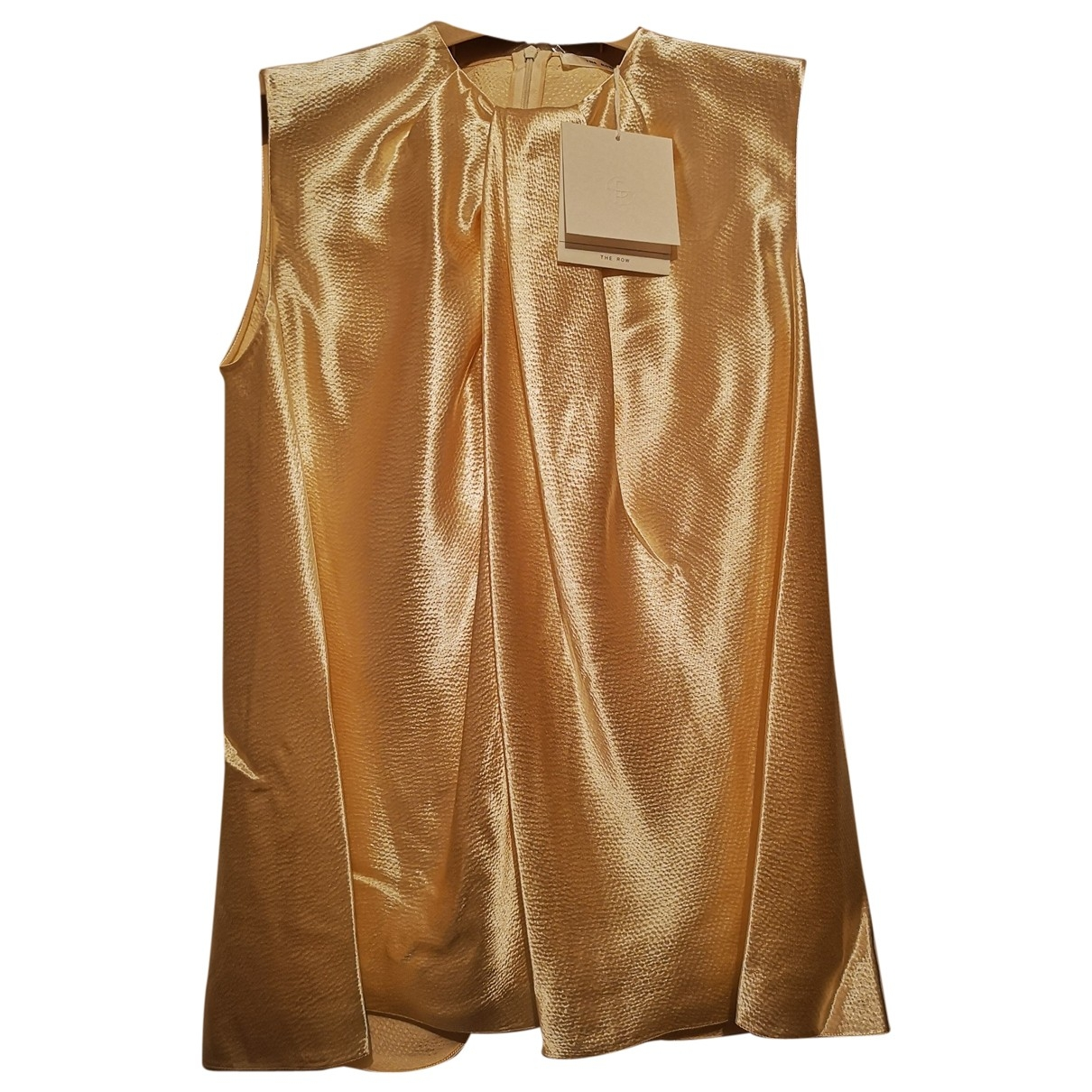 The Row \N Gold Silk  top for Women 32 FR