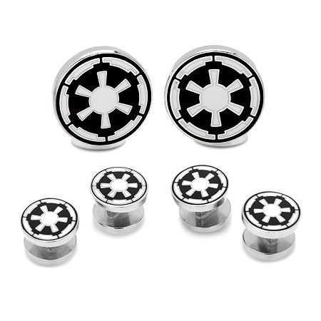 Star Wars Imperial Empire Tuxedo Stud & Cuff Links Gift Set, One Size , Black