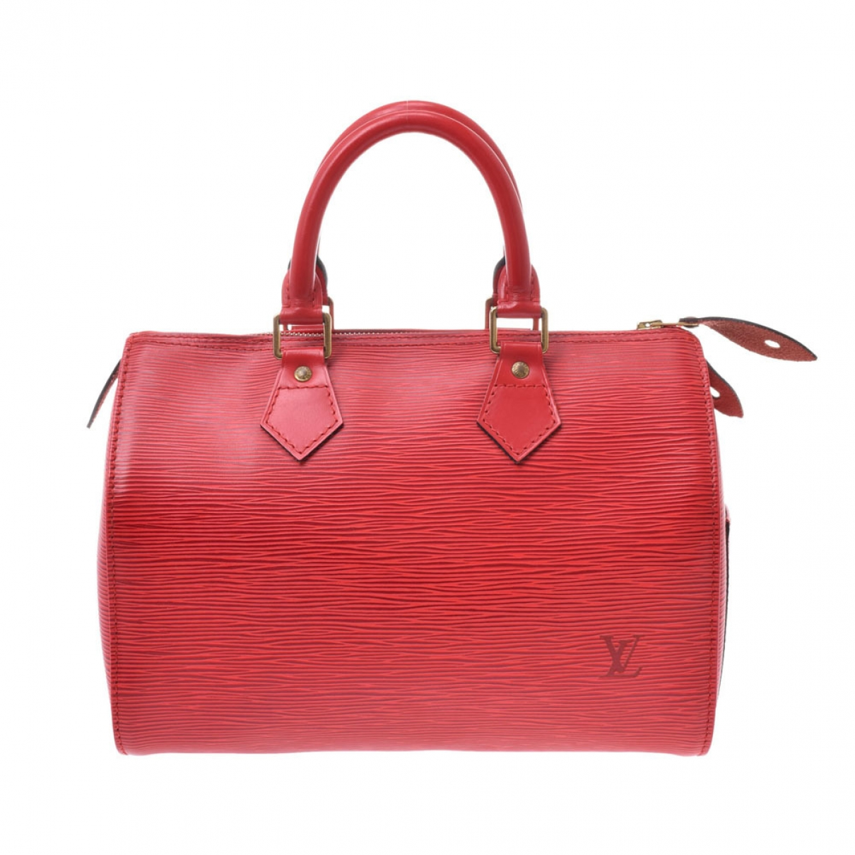 Louis Vuitton Speedy Red Leather handbag for Women \N