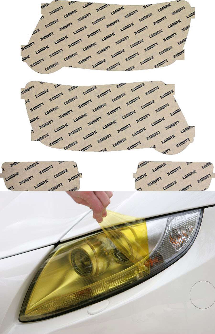 Ford Explorer & Sport Trac 06-10 Yellow Headlight Covers Lamin-X F018Y