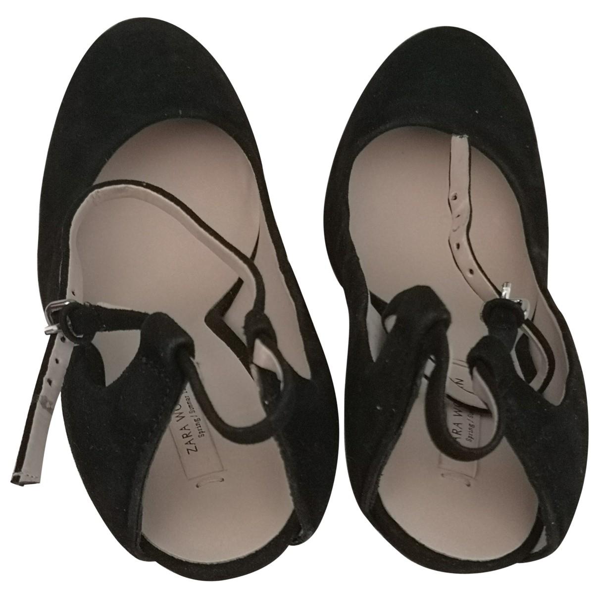 Zara \N Black Suede Heels for Women 39 IT