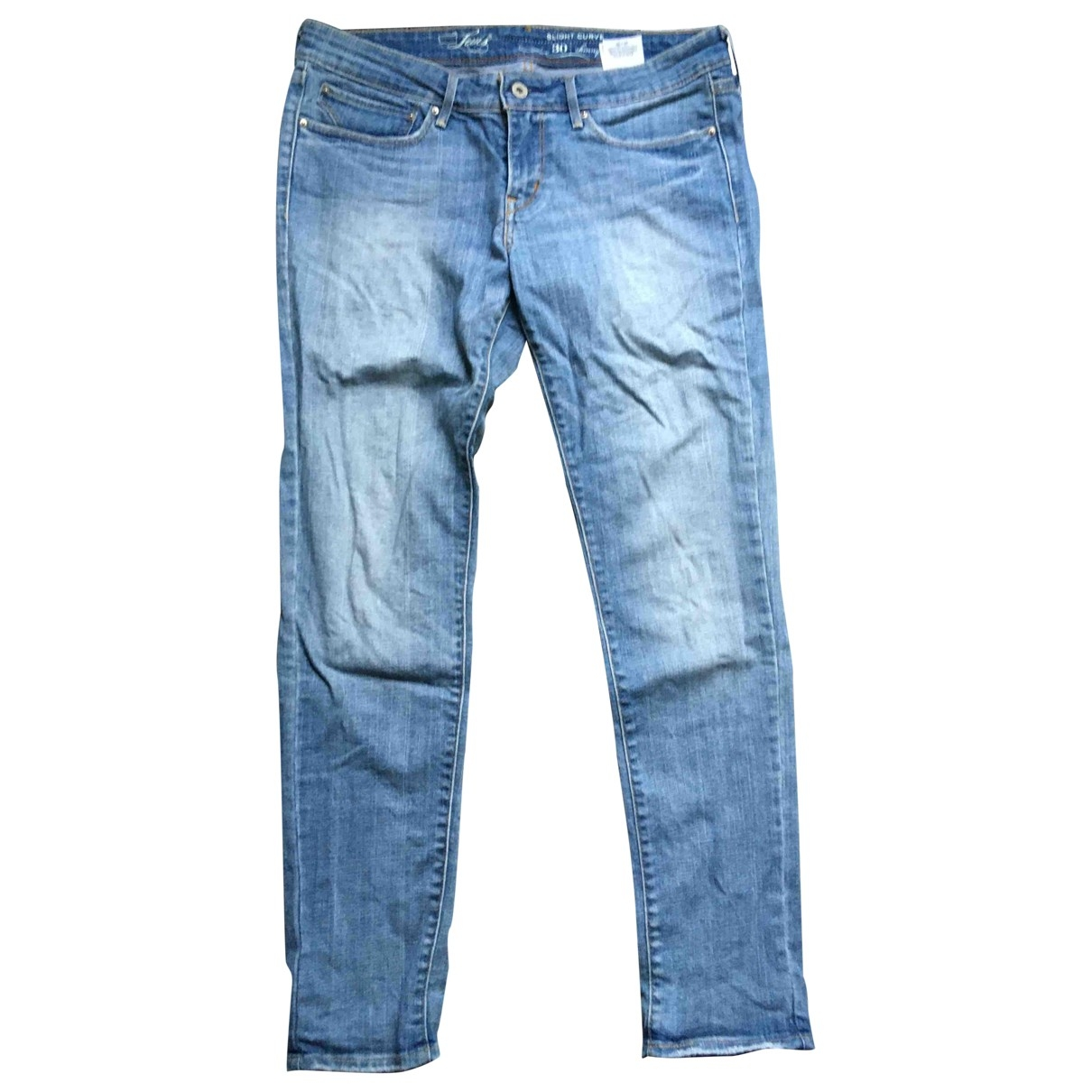 Levi's \N Blue Cotton - elasthane Jeans for Women 30 US
