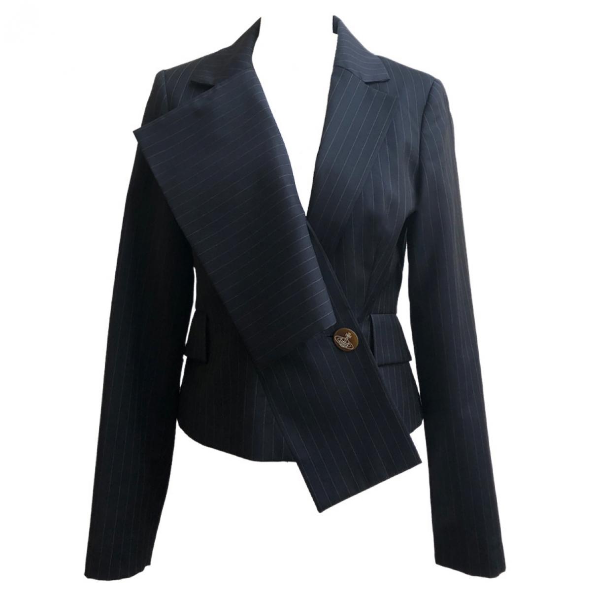 Vivienne Westwood Red Label \N Blue Wool jacket for Women 42 IT