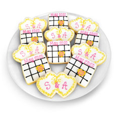 Save the Date Cookie Favor Tray