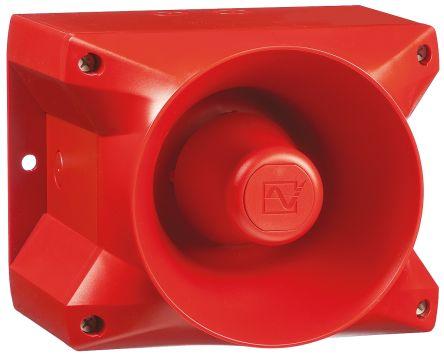 Pfannenberg PA 20 Red 80 Tone Electronic Sounder ,24 V dc, IP66