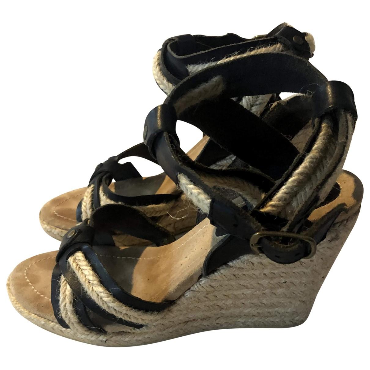 Isabel Marant \N Black Leather Sandals for Women 40 EU