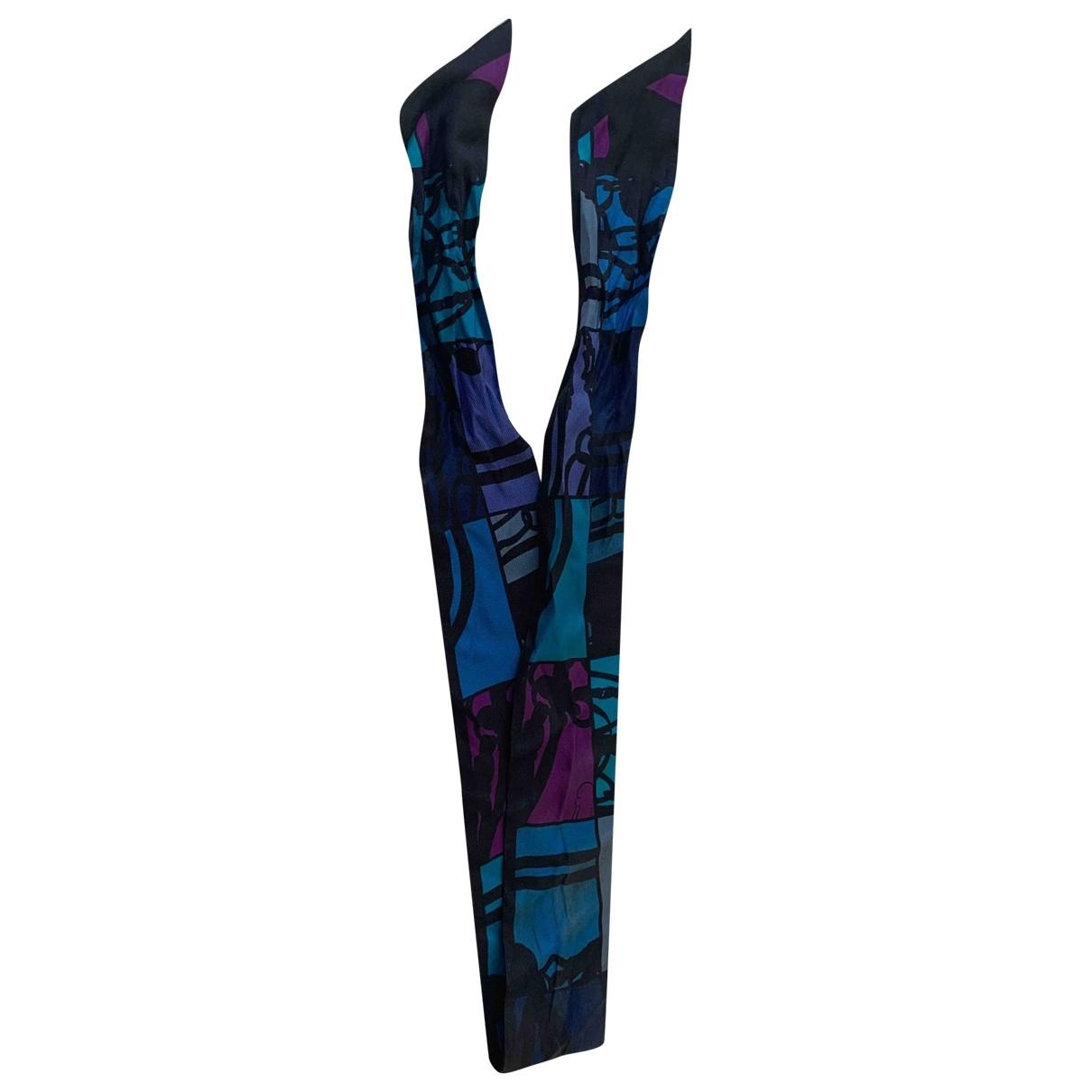 Hermès Twilly 86 Purple Silk scarf for Women \N