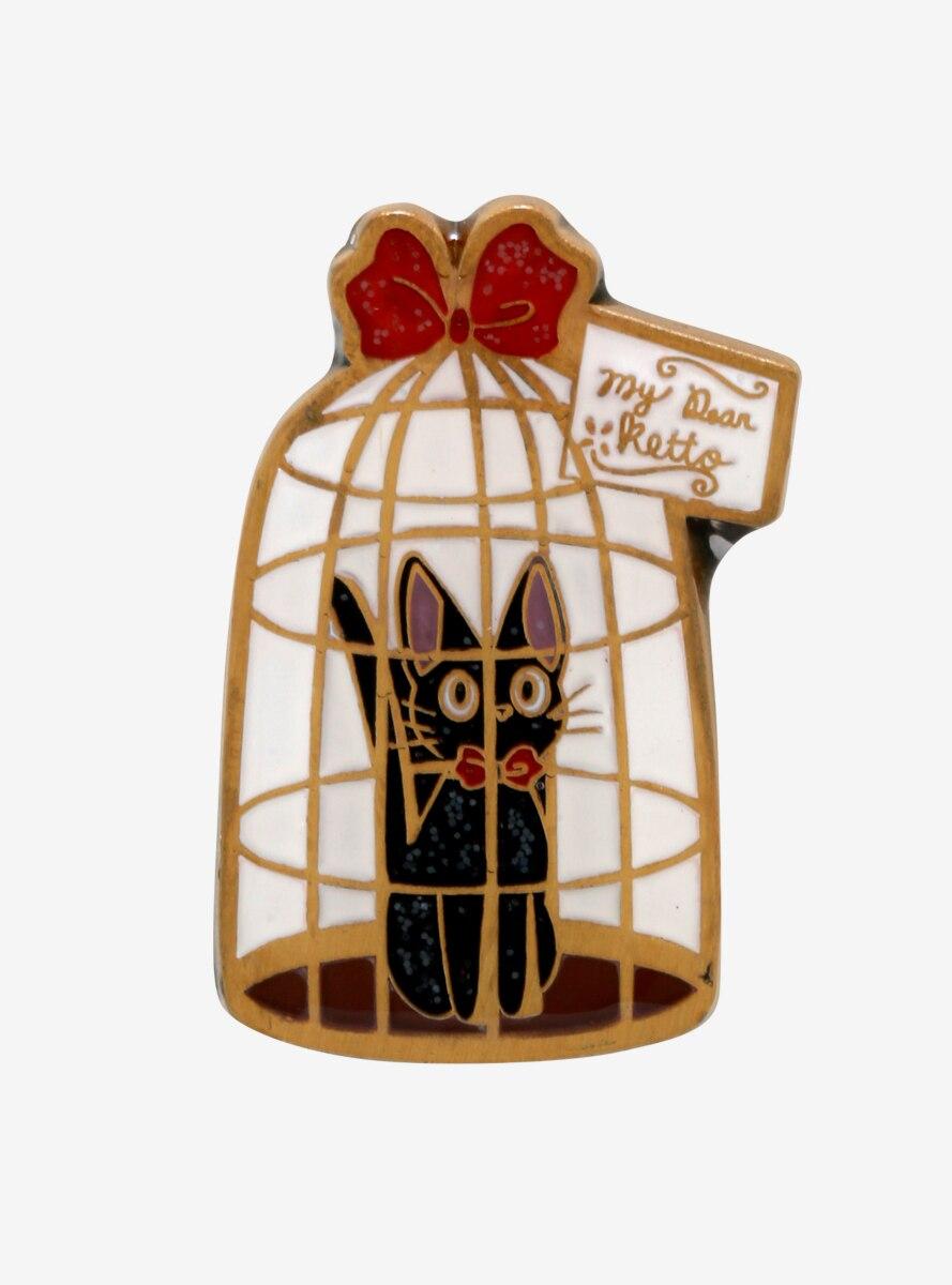 Studio Ghibli Kiki's Delivery Service Jiji Cage Enamel Pin - BoxLunch Exclusive