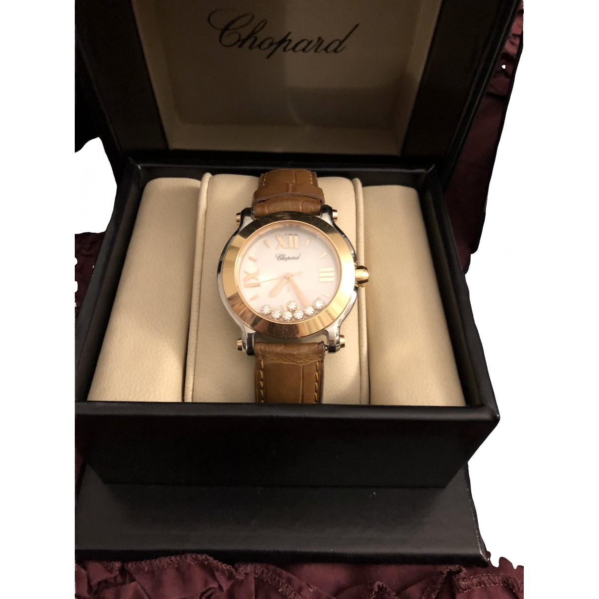 Chopard Happy Sport Gold gold and steel watch for Women \N