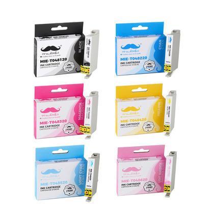 Epson 48 T048 cartouche d'encre compatible combo BK/C/M/Y/LC/LM - Moustache®