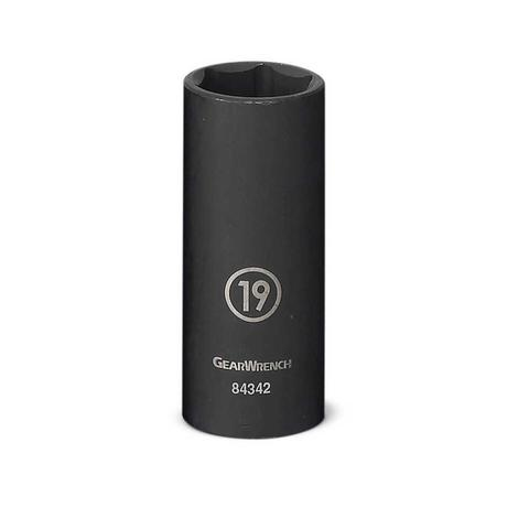 GearWrench Impact Socket, 3/8 In. Drive 6 Point Deep, 10mm