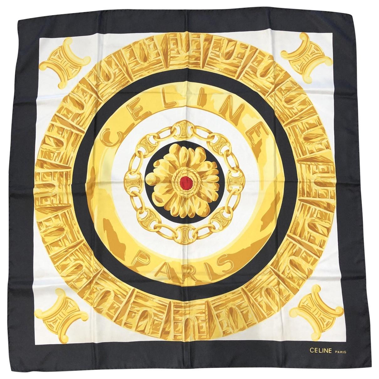 Celine \N Black Silk Silk handkerchief for Women \N
