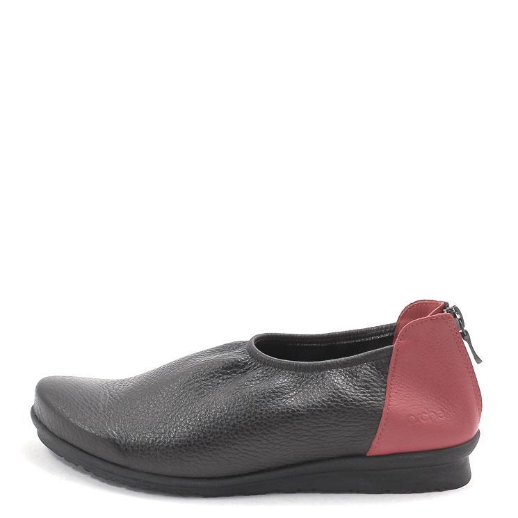 Arche, Barryo Women's Slip-on Shoes, black-red Größe 39