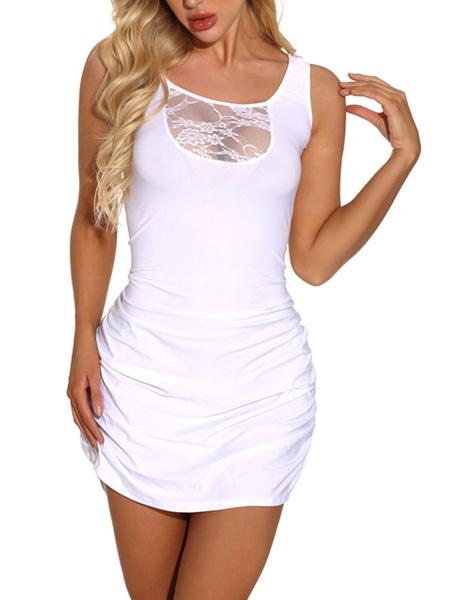 Milanoo Lace Club Dress Sexy Cut Out Sleeveless Sexy Dress