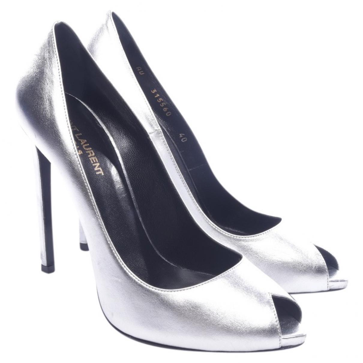 Saint Laurent \N Metallic Leather Heels for Women 40 EU