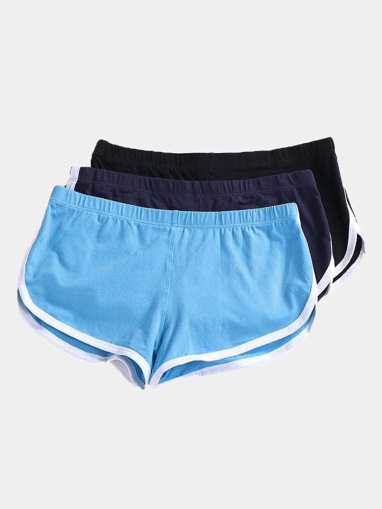 Loose Home 100%Cotton Boxers Breathable Split Hem Printing Arrow Pants Shorts for Men