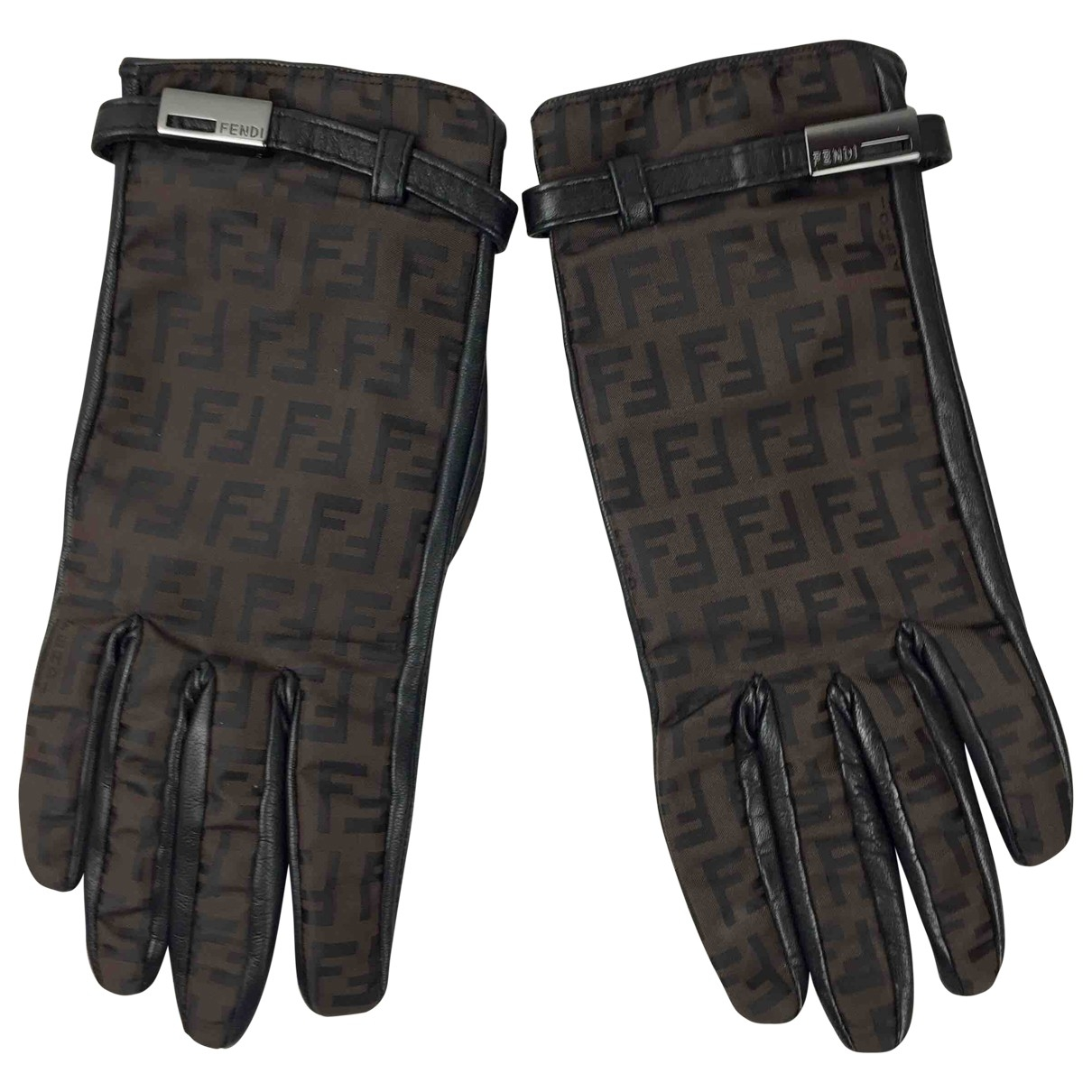 Fendi \N Brown Gloves for Women 7 Inches