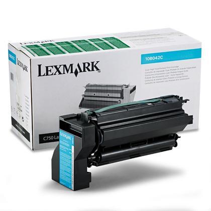 Lexmark 10B042C cartouche de toner du programme retour originale cyan haute capacité