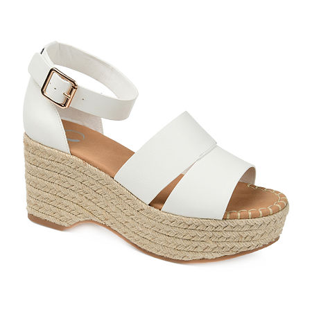 Journee Collection Womens Takara Pumps Block Heel, 9 Medium, White