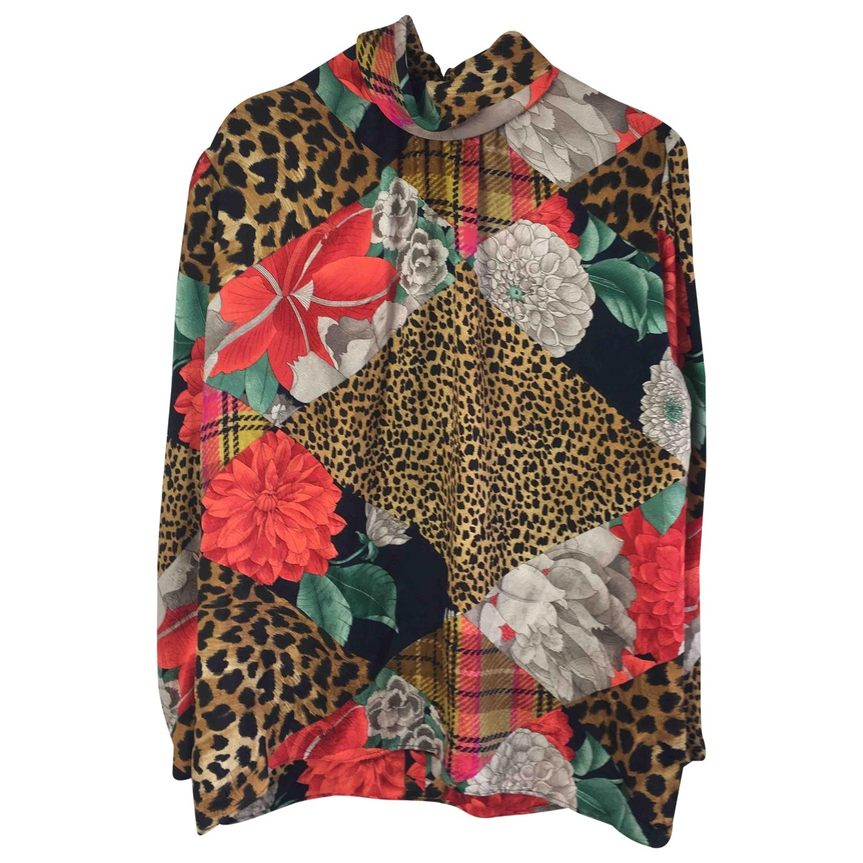 Non Signé / Unsigned \N Multicolour Silk  top for Women 16 UK