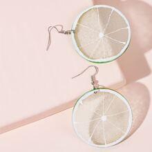 Lemon Shaped Drop Earrings 1pair