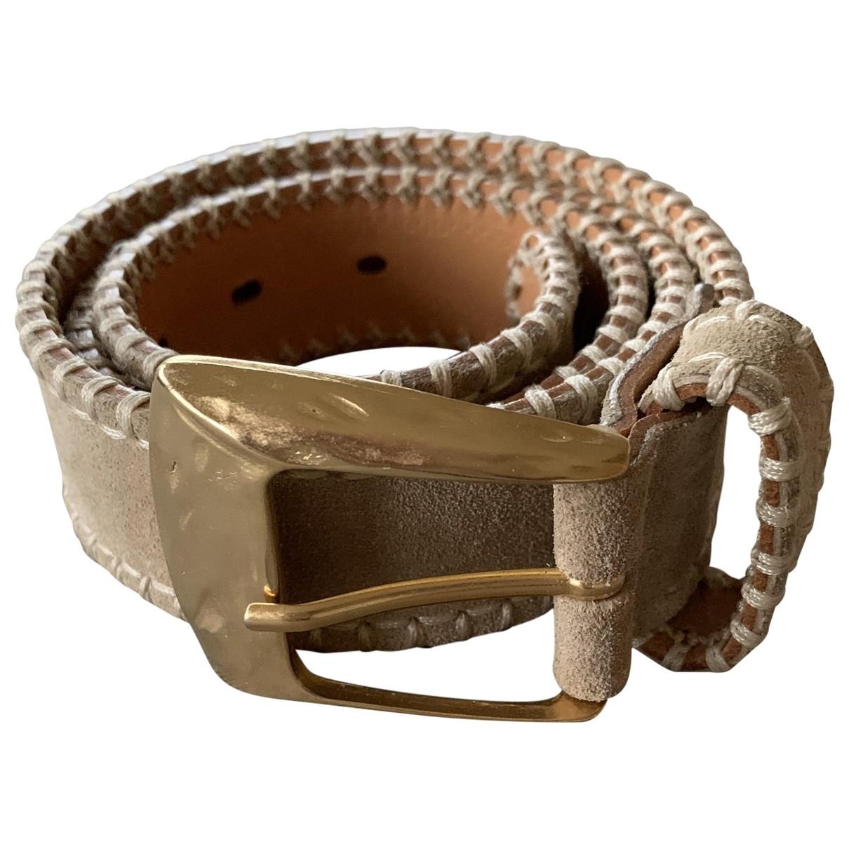 Laurel \N Beige Suede belt for Women 95 cm
