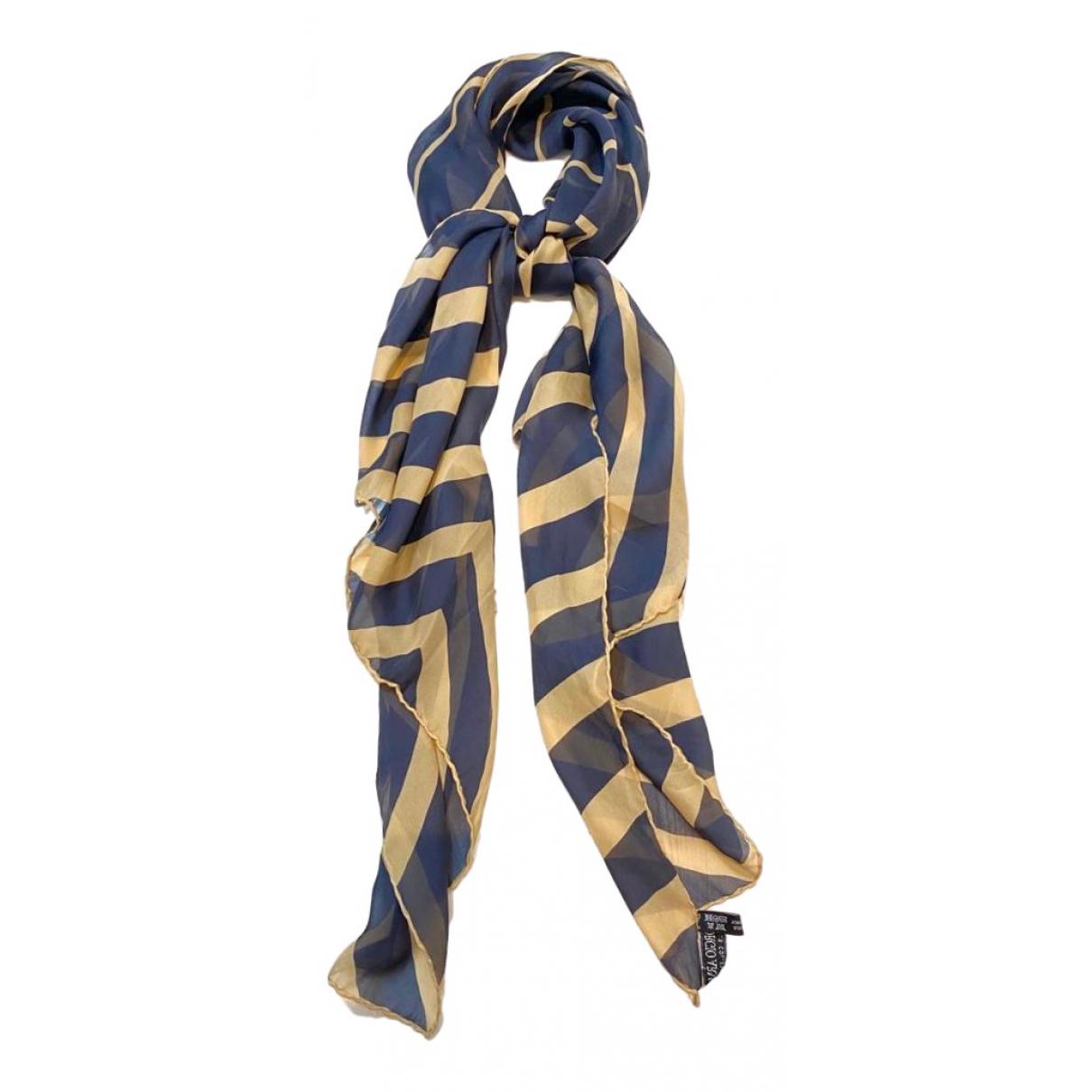 Giorgio Armani \N Navy Silk scarf for Women \N