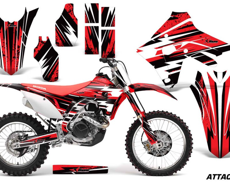 AMR Racing Dirt Bike Graphics Decal Sticker Wrap For Honda CRF450R | CRF450RX 2017+áATTACK RED