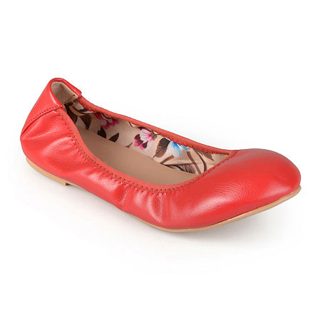 Journee Collection Womens Lindy Ballet Flats, 8 Medium, Red
