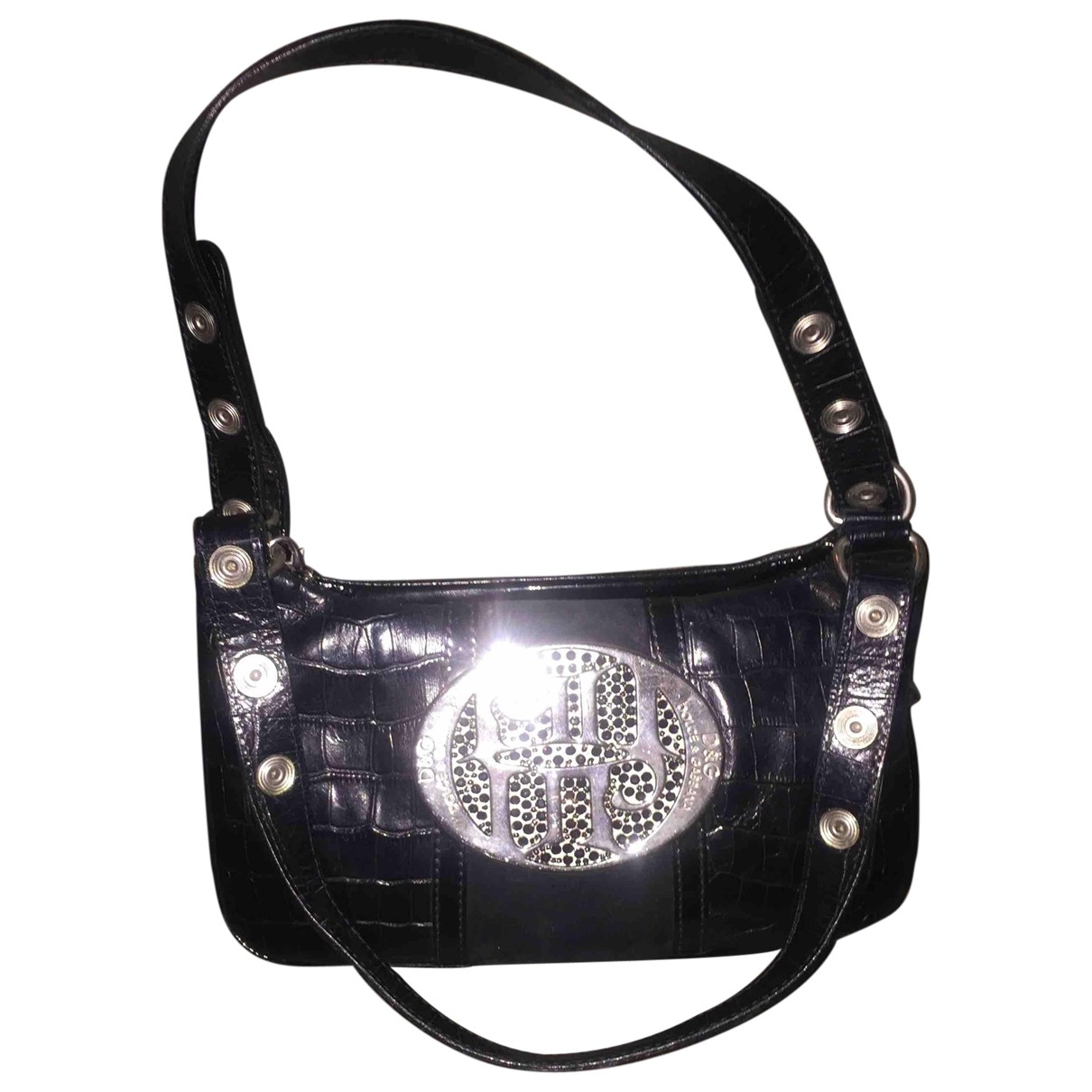 D&g \N Black Patent leather Clutch bag for Women \N