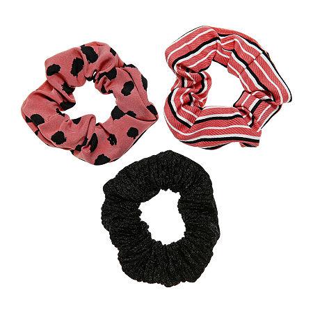 Arizona Scrunchie 3-pc. Hair Goods Sets, One Size , Black