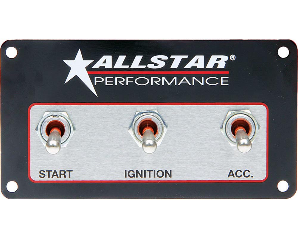 Allstar Performance ALL80165 Weatherproof Switch Panel Three Switches ALL80165