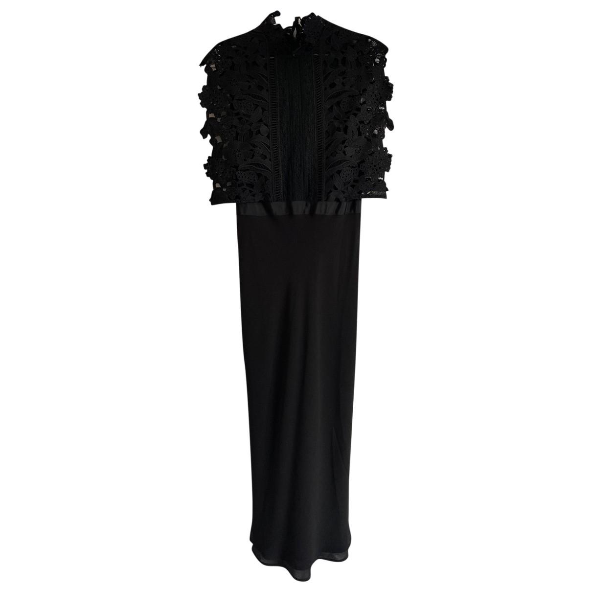 Self Portrait \N Black Silk dress for Women 8 UK