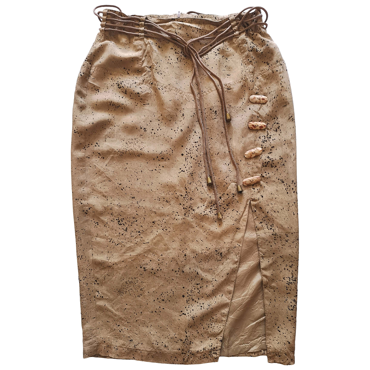 Non Signé / Unsigned \N Beige Silk skirt for Women 10 US