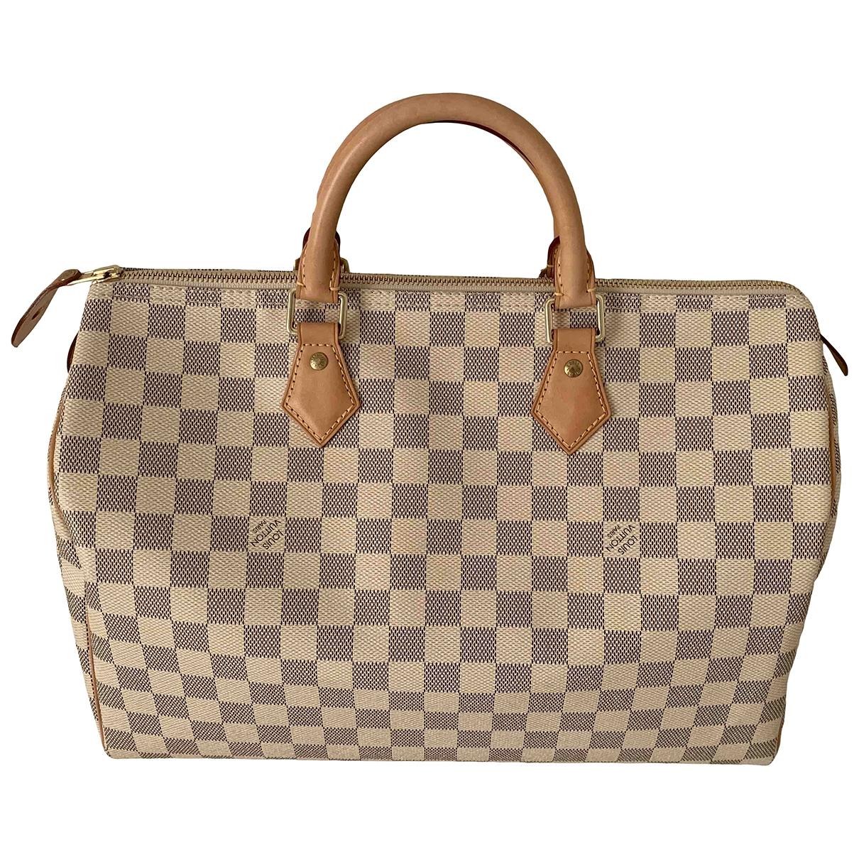 Louis Vuitton Speedy Ecru Cloth handbag for Women \N