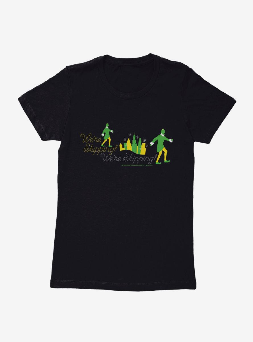 Elf Skipping Womens T-Shirt