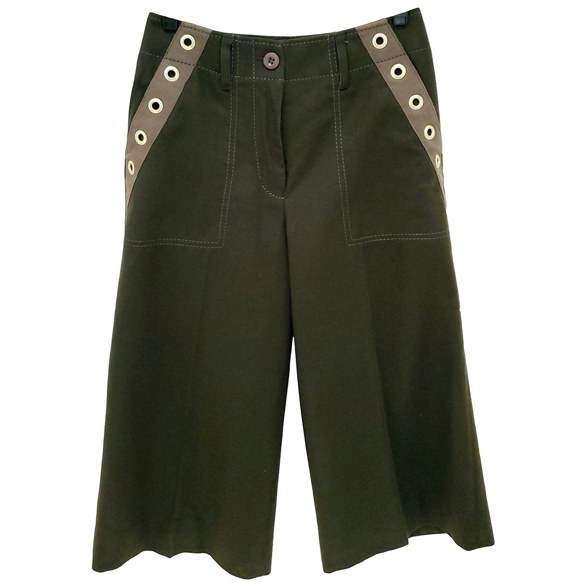 Sacai \N Green Wool Trousers for Women 1 0-5