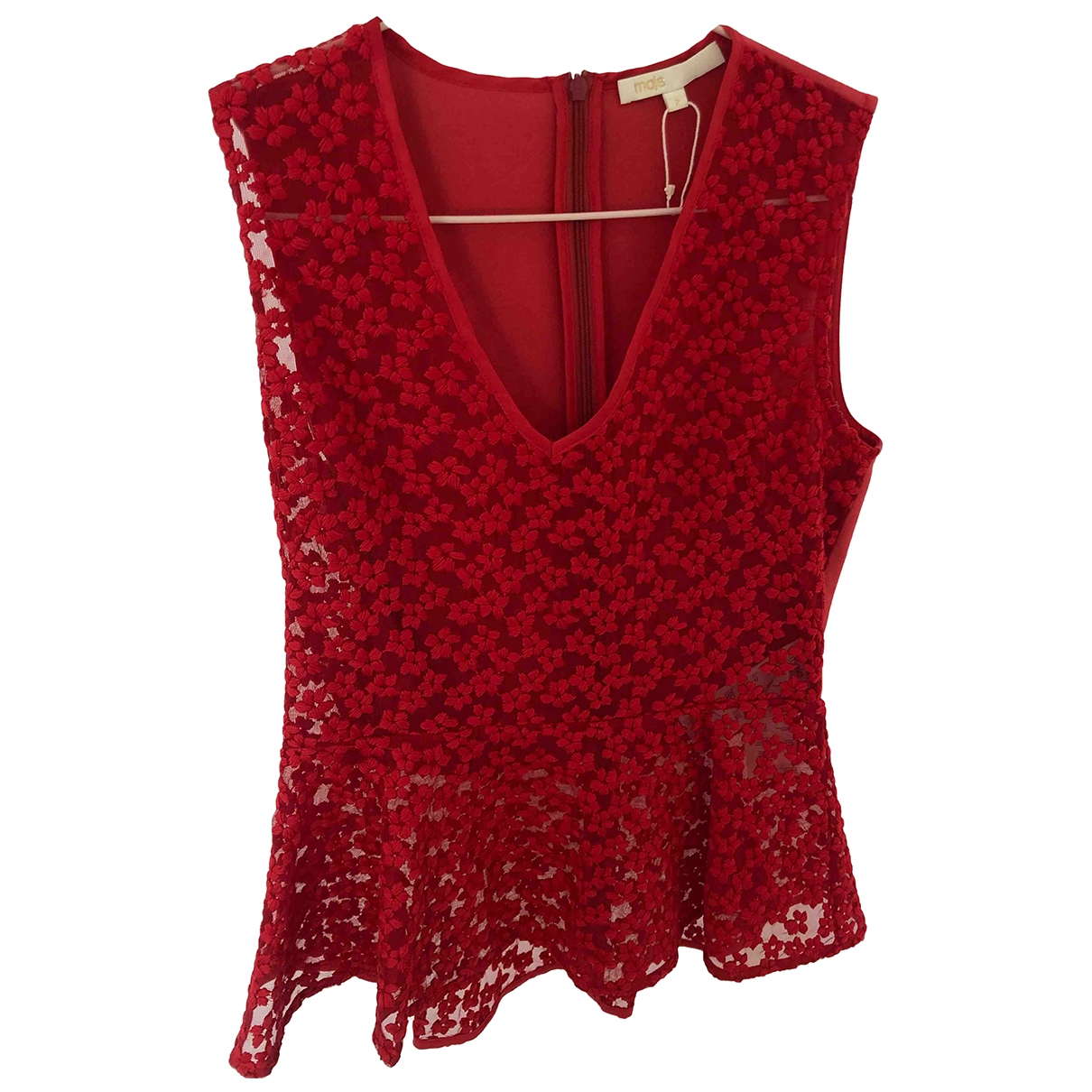 Maje \N Red Lace  top for Women S International