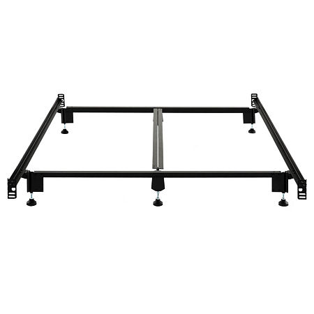 Malouf Structures Steelock Super Duty Metal Bed Frame, One Size , Black
