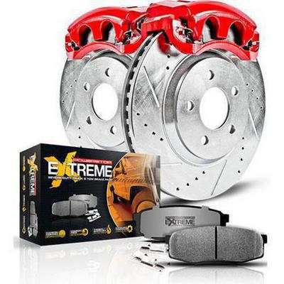 Power Stop Z36 Extreme Performance Truck & Tow 1-Click Front and Rear Brake Kit with Calipers - KC2027-36