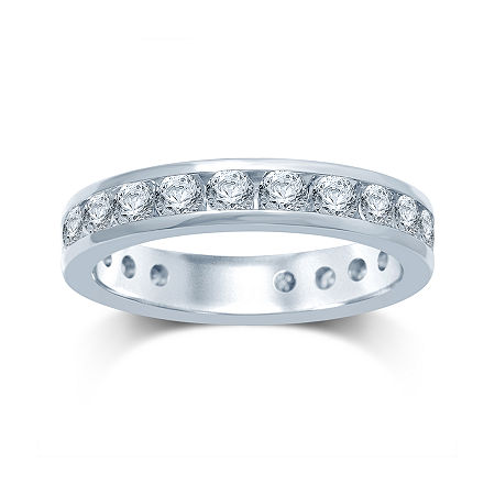 2 CT. T.W. Diamond 14K White Gold Eternity Band, 7 , No Color Family
