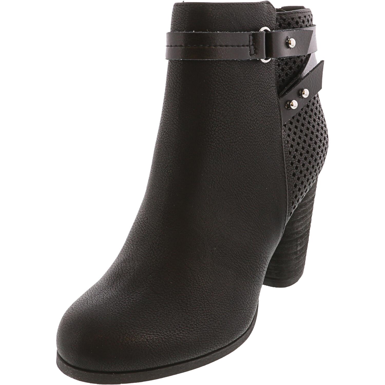 Madden Girl Women's Dagger Black Paris Ankle-High Boot - 7M