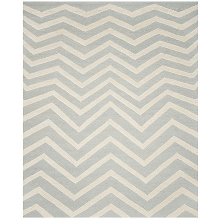 Safavieh Carter Chevron Hand-Tufted Wool Rug, One Size , Gray