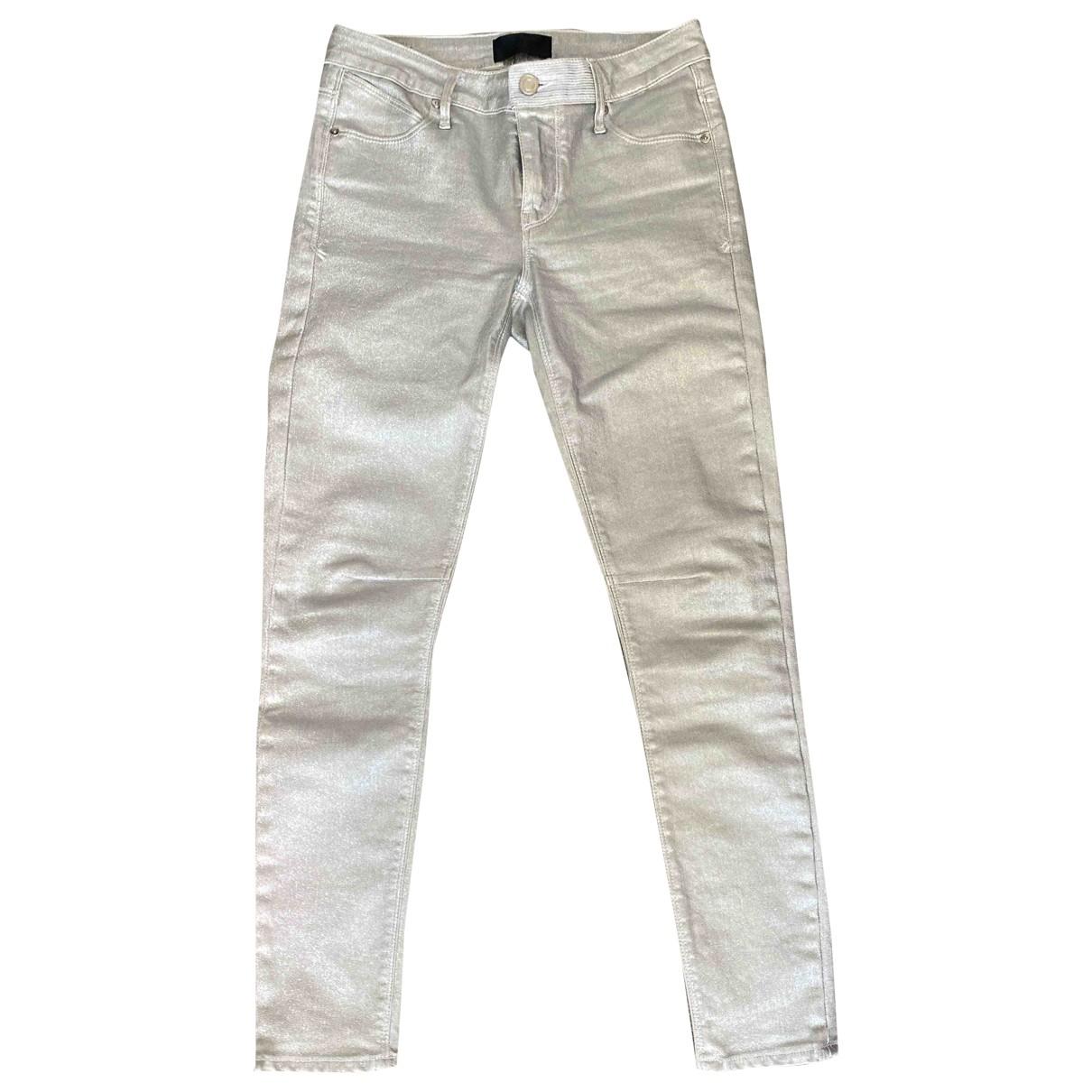 Rta \N Metallic Cotton Jeans for Women 32 FR