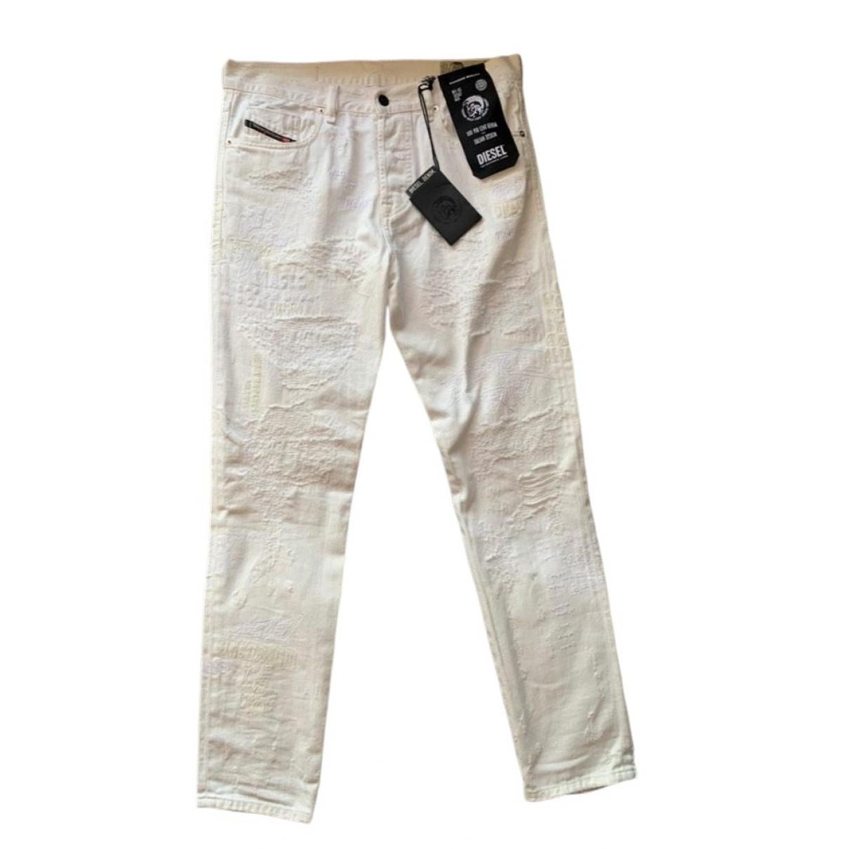 Diesel \N White Cotton Jeans for Men 28 US